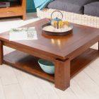 Table basse carrée bois 120×120