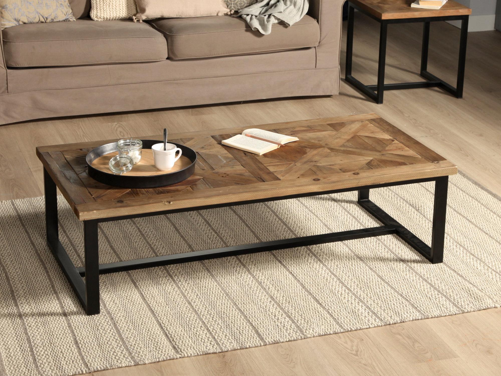 Table basse bois metal moderne
