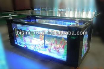 Table basse en palette avec aquarium