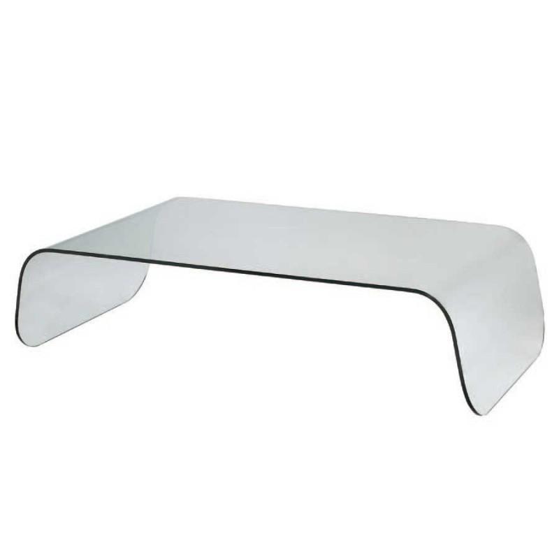 Table basse en verre gris
