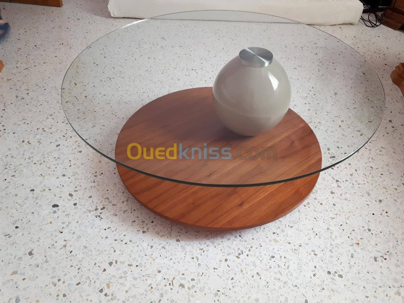 Table basse bois ouedkniss
