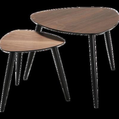 Table basse blanc et bois alinea