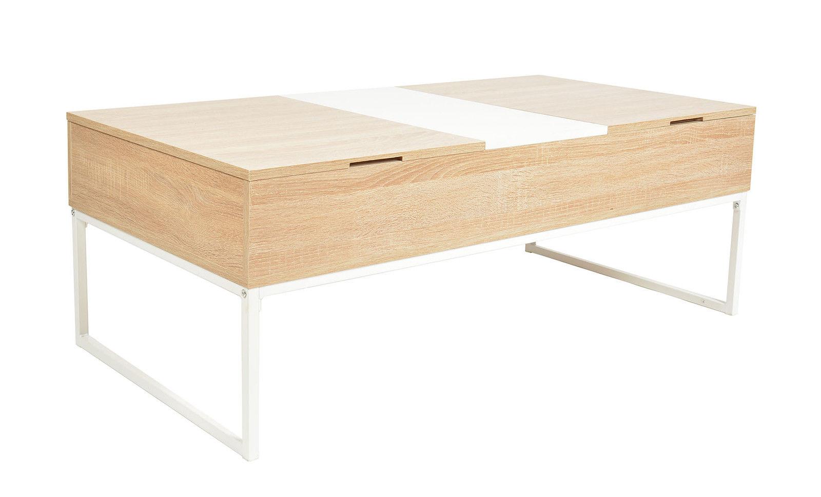 Table basse scandinave escamotable