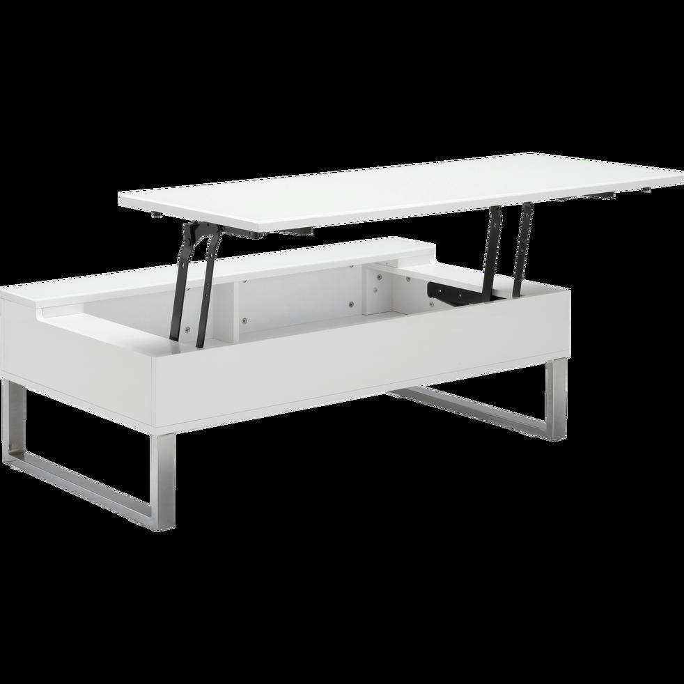 Table basse blanche avec tablette relevable novy