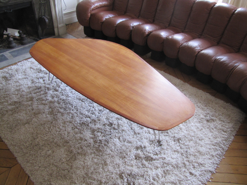 Table basse boomerang scandinave