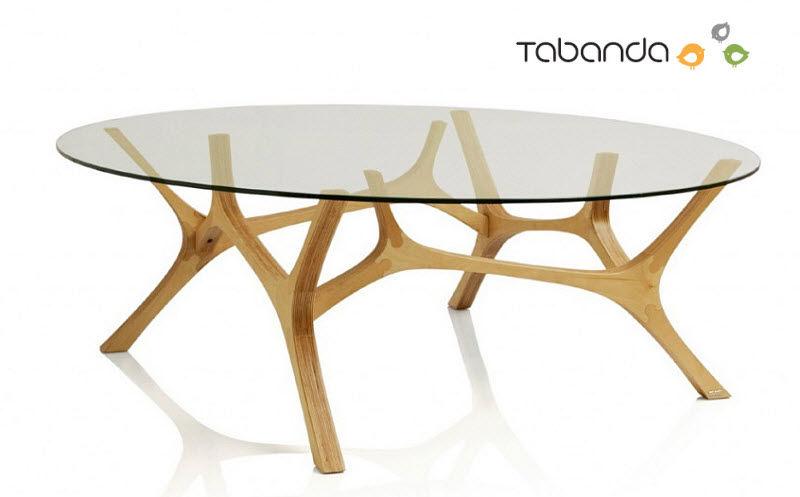 Table basse bois brut ovale