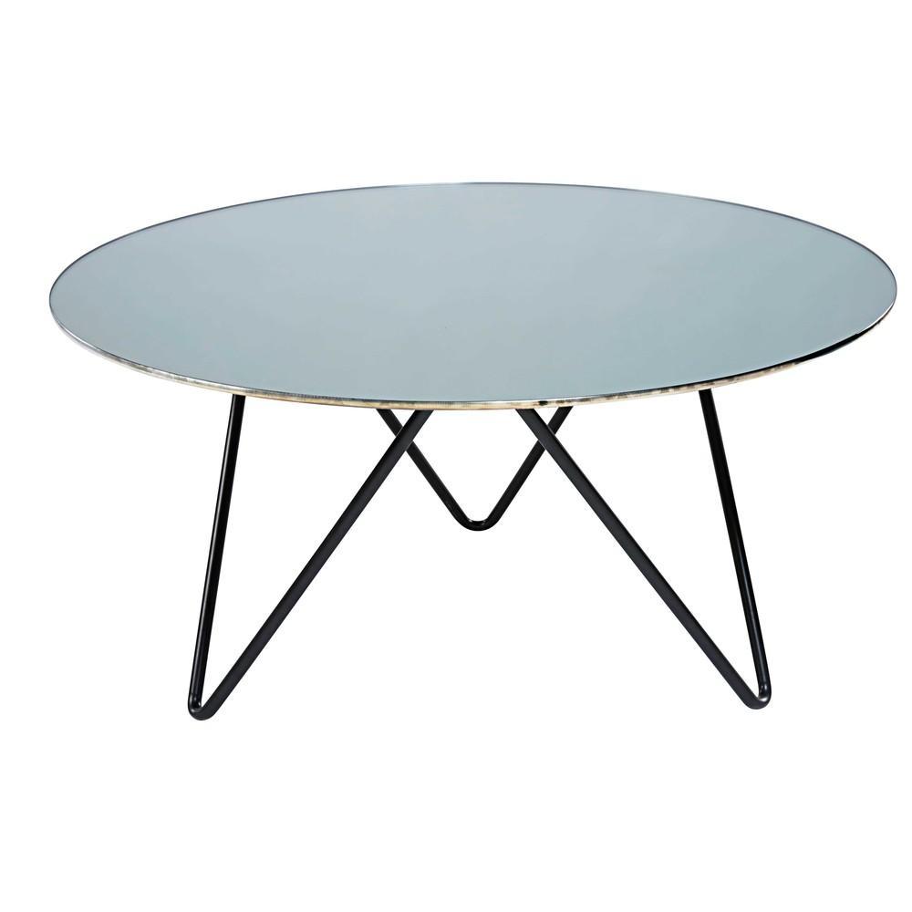 Table basse en verre maison du monde