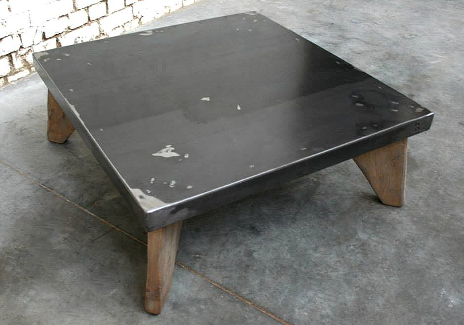 Table basse industrielle vintage