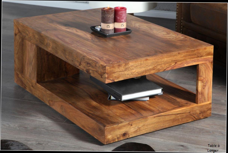 Table basse bois moderne pas cher
