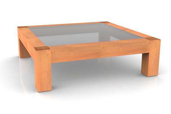 Table basse en verre feuilleté