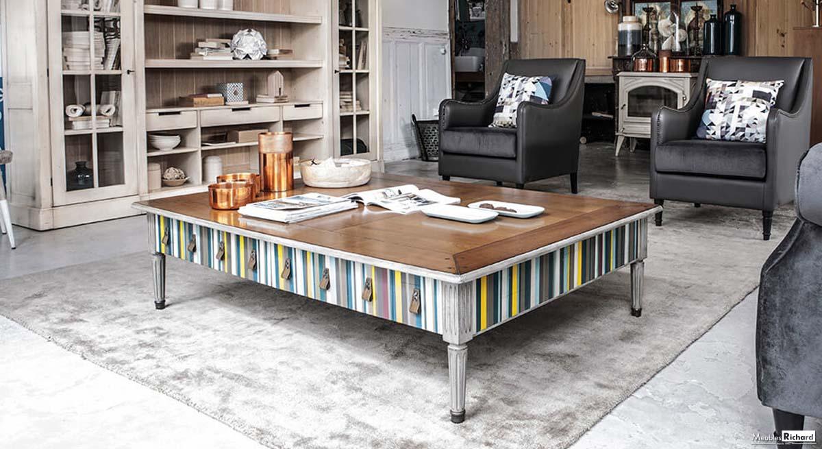 Table basse bois grange