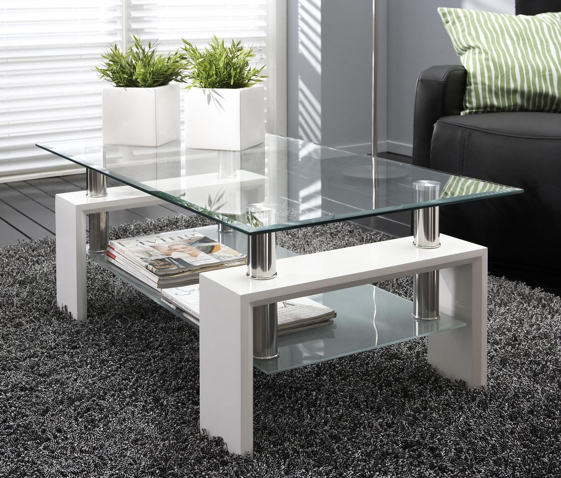Table basse en verre pour salon