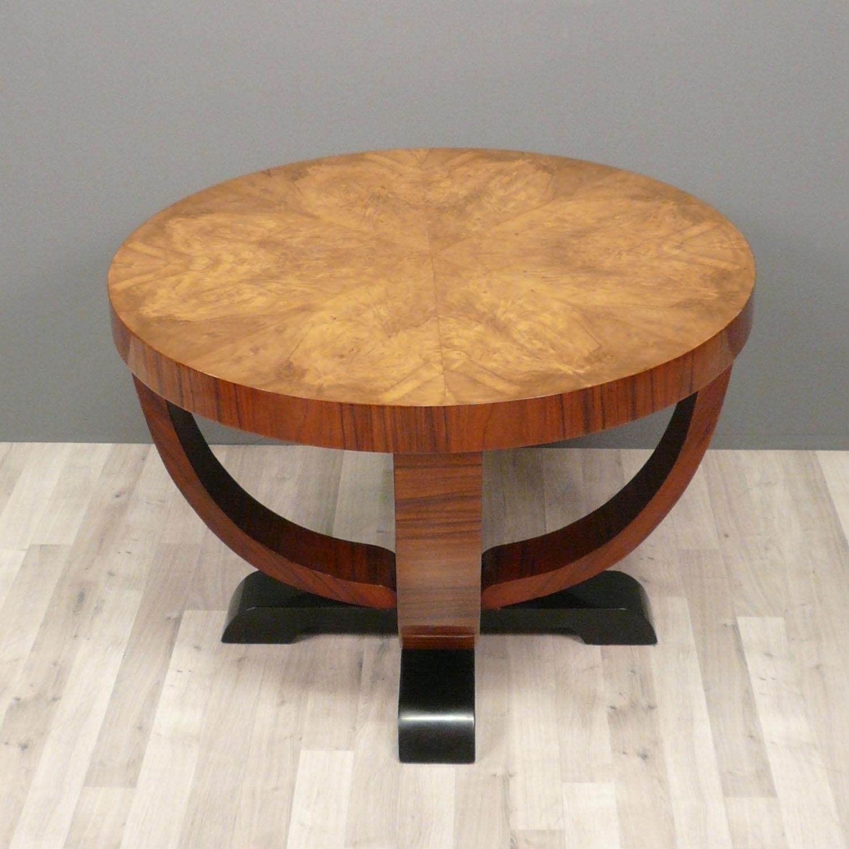 Table basse ronde art deco