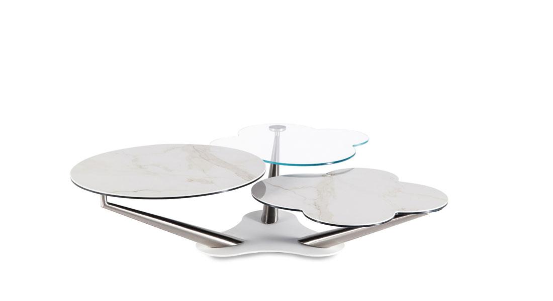Table basse en verre fabrication italienne