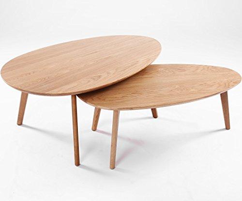 Lot de 2 table basse scandinave