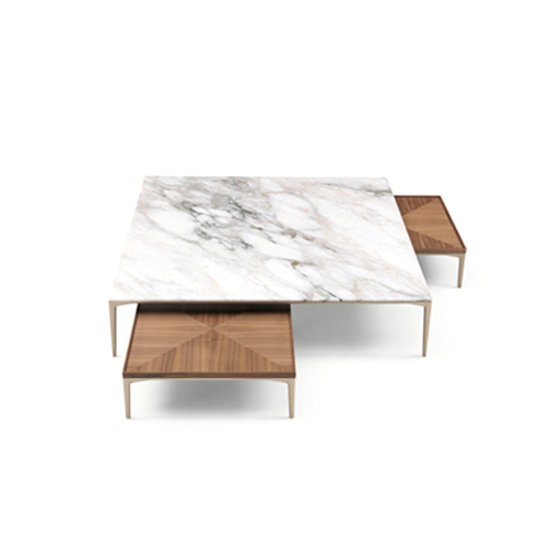 Table basse marbre marron