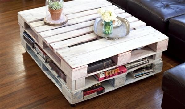 Table basse palette maison