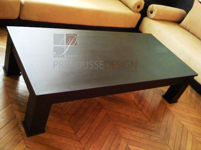 Table basse bois marocaine