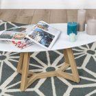 Table basse scandinave blanche laqué