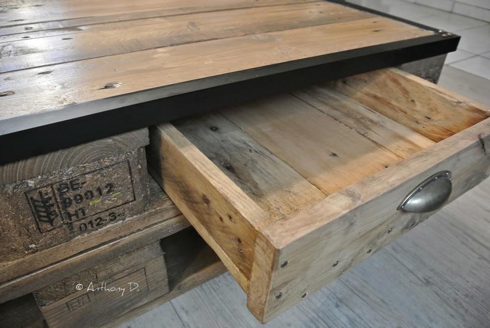 Tiroir pour table basse palette