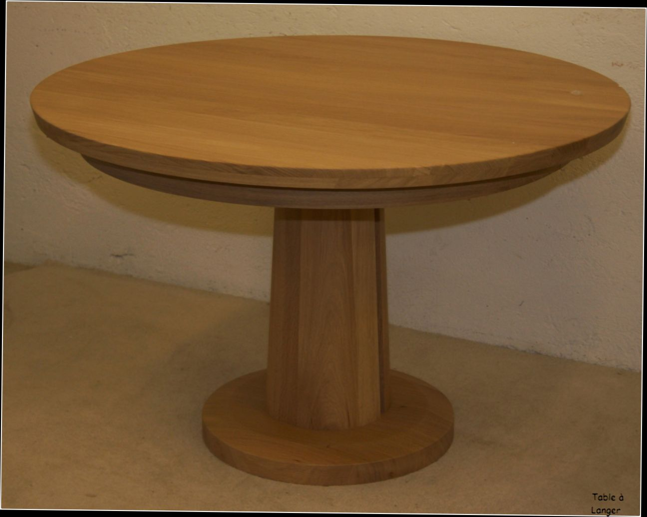 Table basse bois pied central