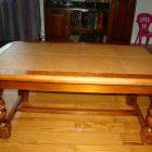 Table basse bois carreaux