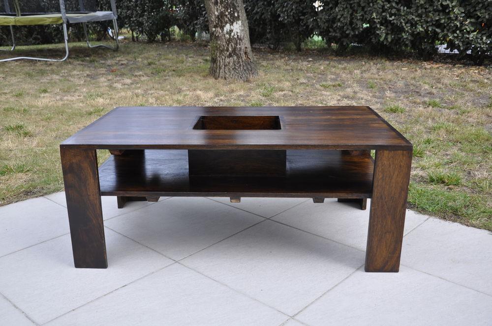 Table basse bois exotique occasion