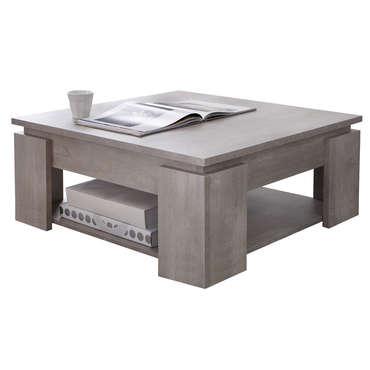 Table basse avec pouf en osier