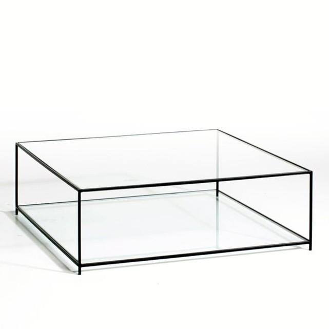 Table basse carrée verre