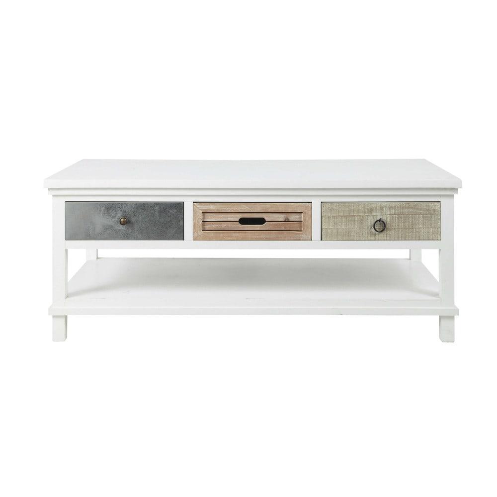 Table basse blanche en bois