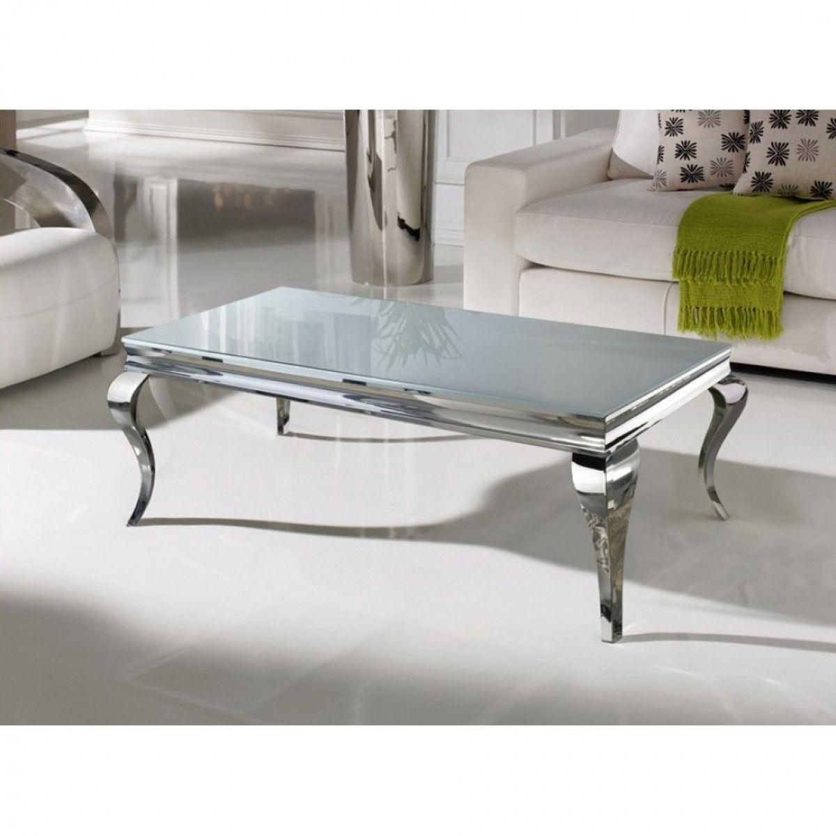 Table basse plateau imitation marbre