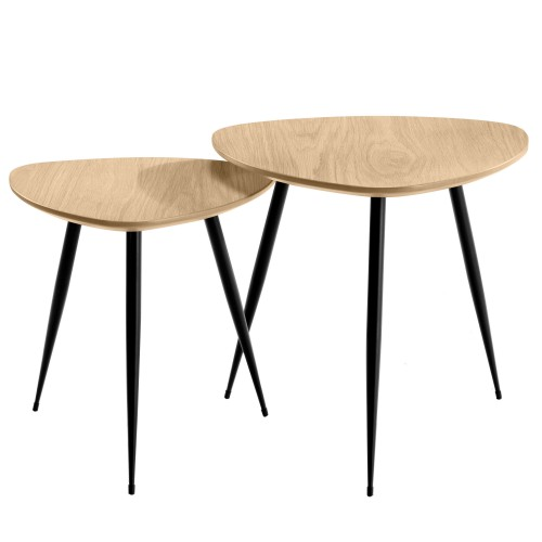 Table basse gigogne scandinave ovale