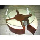 Table basse ronde pouf intégré