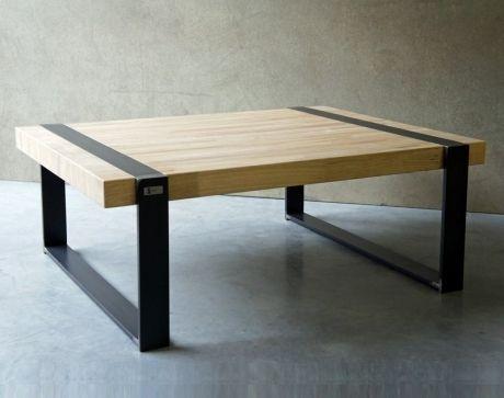 Table basse acier bois diy
