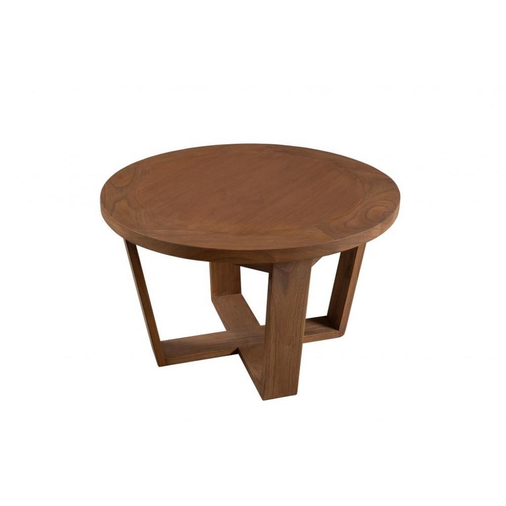 Table basse jardin ronde bois
