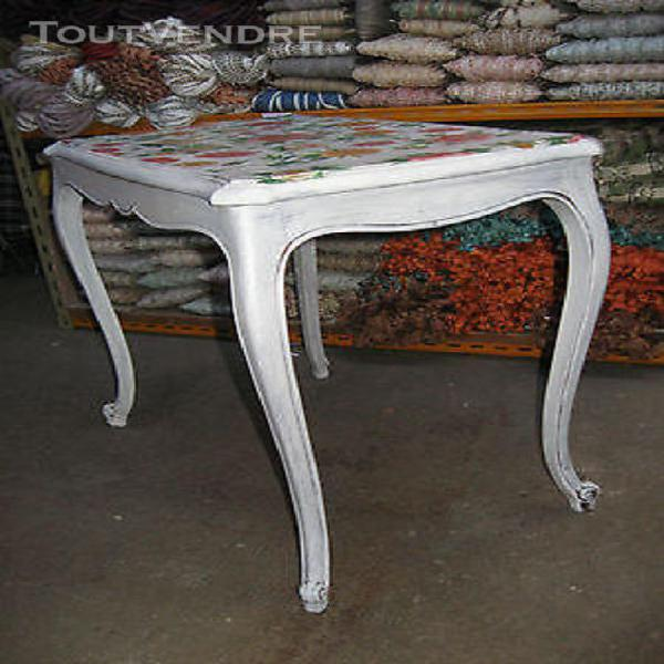 Table basse bois peint