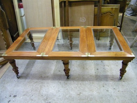 Restaurer table basse en bois