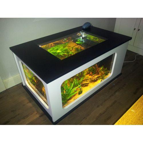 Table basse aquarium rectangulaire