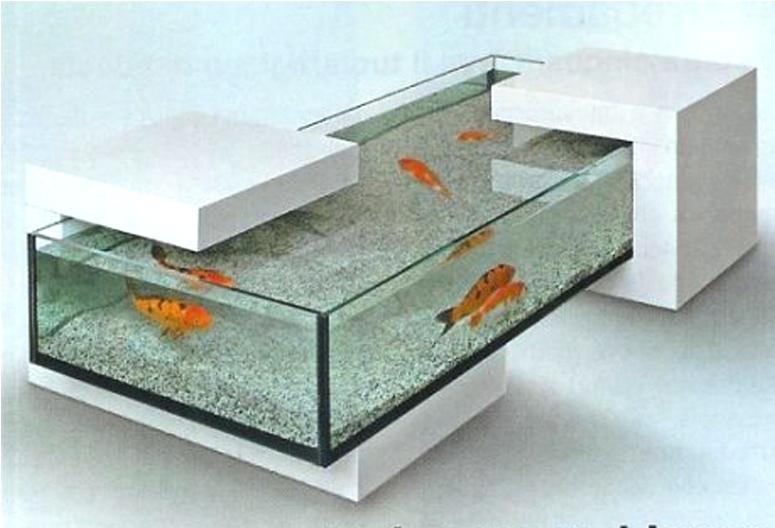 Table basse aquarium pas cher