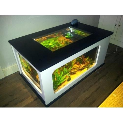 Table basse aquarium sans fil