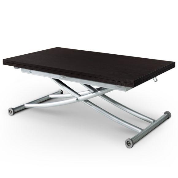 Table basse rectangulaire en bois l120cm avec plateau relevable