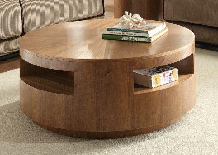 Table basse en buche de bois