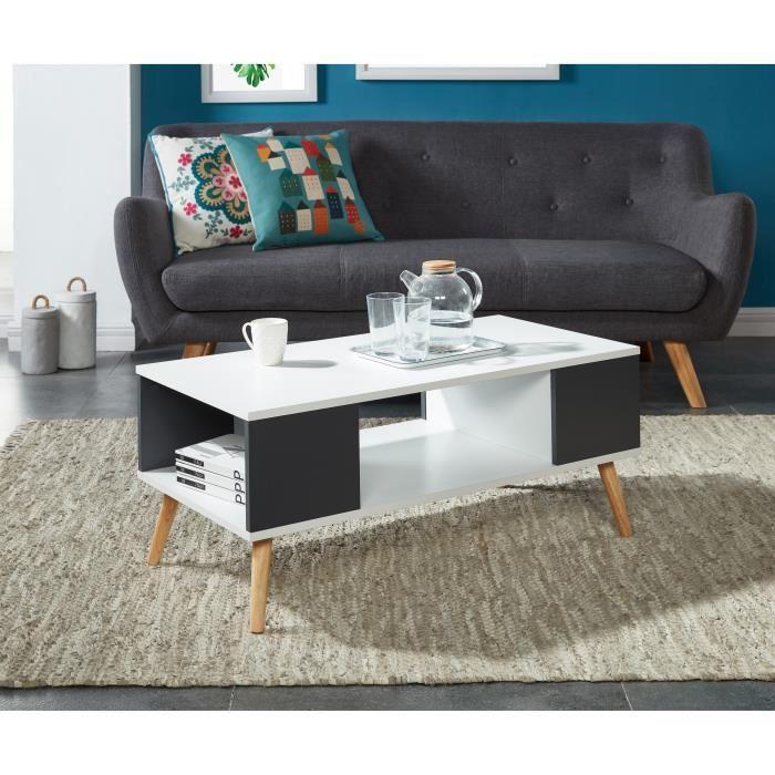 Table basse scandinave noir et blanche