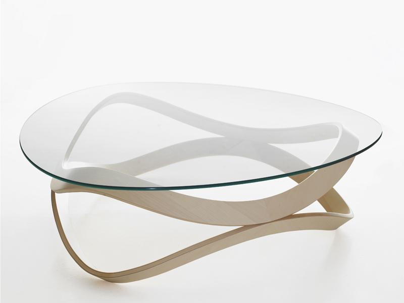 Table basse bois verre metal
