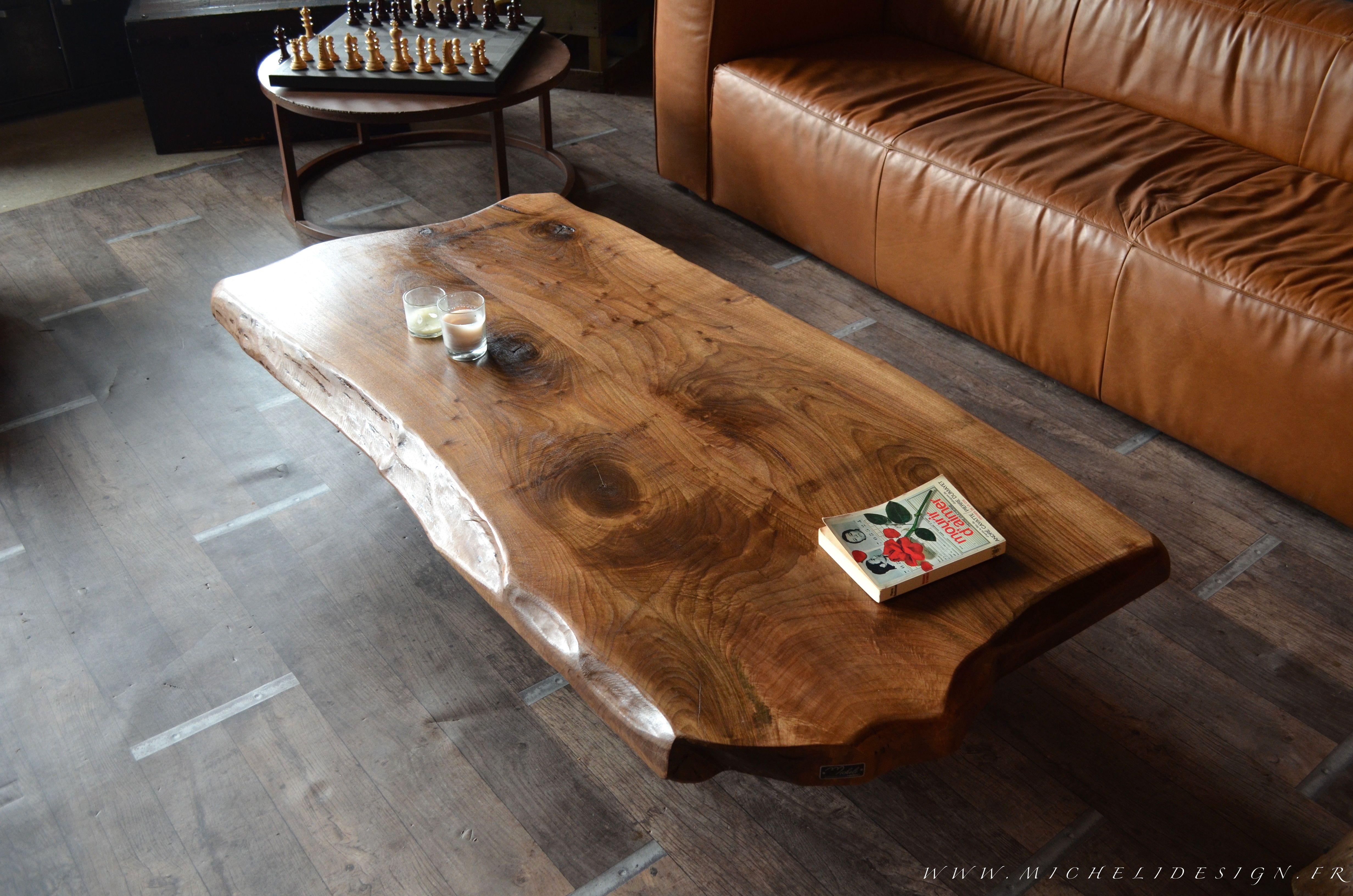 Table basse design bois et acier