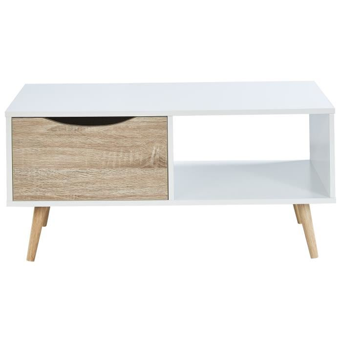 Table basse scandinave chêne