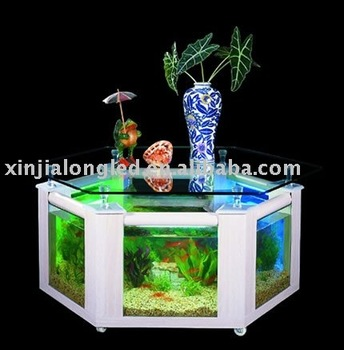 Table basse aquarium poisson d'or
