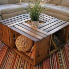Table basse bois fait maison