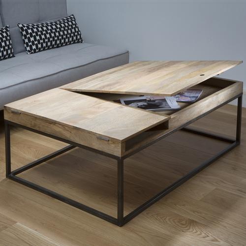 Table basse pas cher bois et metal