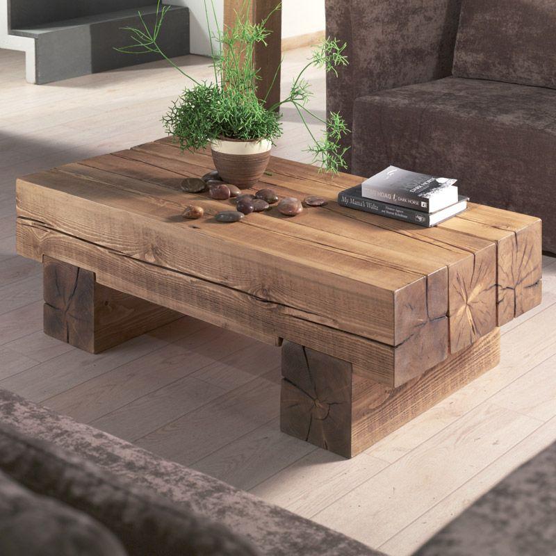 Table basse en bois cocktail scandinave